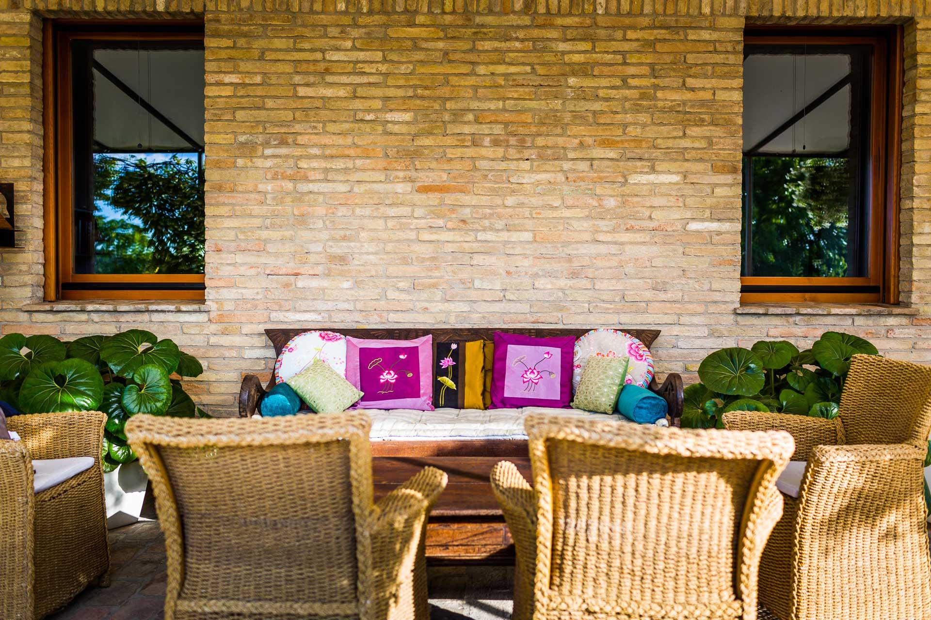 Sofà in veranda